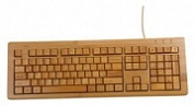Клавиатура DNS KB-100 BAMBOO Natura Brown USB