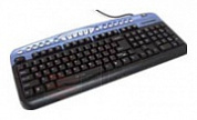 Клавиатуры oklick 330 m multimedia keyboard black-blue usb + ps/2